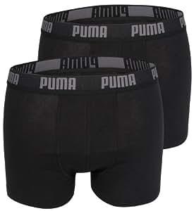 Puma Basic - Boxer - Lot de 2 - Uni - Homme - Noir - S (FR: 2)