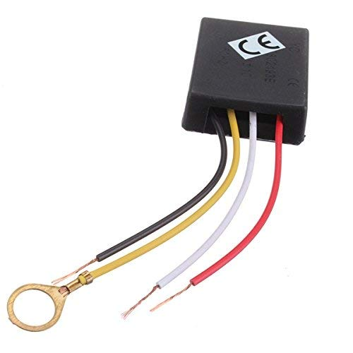 ILS - Modulo AC 220V 3 Vie Interruttore con Sensore di Controllo Touch Controllo di Tocco Dimmer Variatore Regolatore d\'Intensità di Luce Parte per Lampada da Tavolo Scrivania