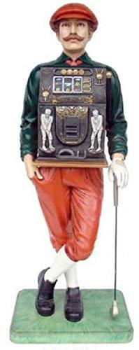 Golfeur avec machine à sous lebensgroß 185 cm pour intérieur en polyrésine