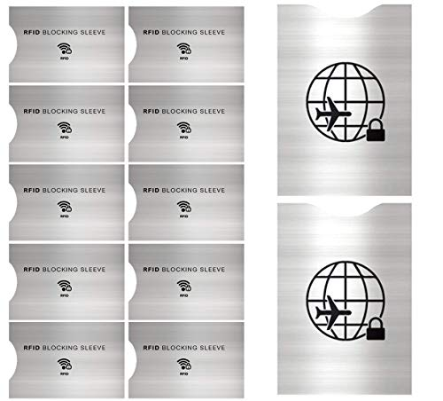 12 Protectores de Bloqueo para Prevenir RFID -ANTI-FRAUDE...