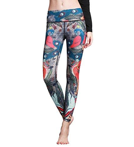 uideazone Damen Mädchen Fintess Leggings Hohe Taille Yoga Sportshose Jogginghose