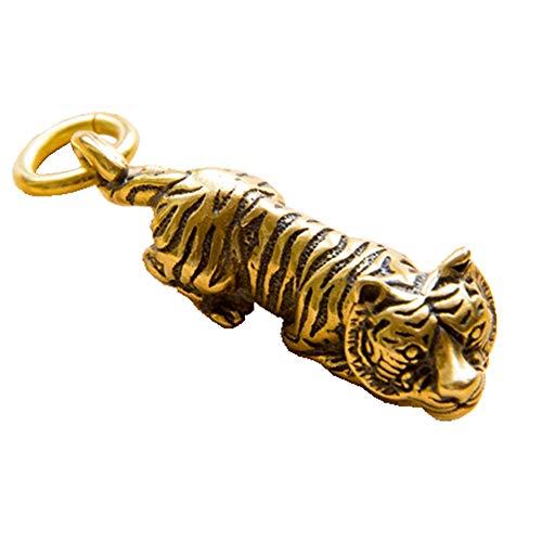 Preisvergleich Produktbild Liangliang988 Schlüsselanhänger,  handgefertigt,  reines Kupfer,  Messing,  Tierkreiszeichen Tiger
