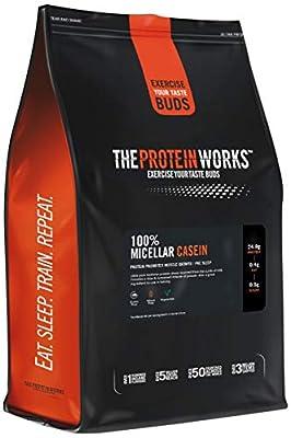 The Protein Works 100 Percent Micellar Casein, Slow Release Milk Protein Shake, Vanilla Creme, 1 kg