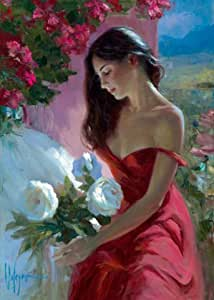 "Affiche: Vladimir Volegov ""Lady in Red"" 50 x 70"