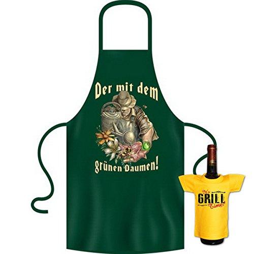 tolle bedrucke Grillschürze im Set + Mini T-Shirt Der Geburtstag Geschenk Grill Schürze Kochschürze Latzschürze Partyschürze Küche Goodman Design®
