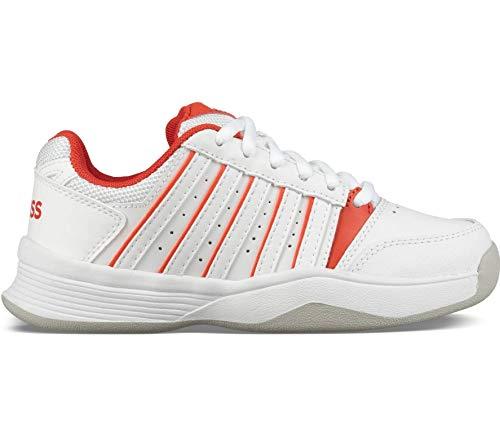 K-Swiss Performance Mädchen Court Smash Carpet White/Fiesta-M Tennisschuhe, Weiß, 3 000070588, 35.5 EU