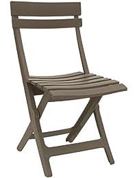 miami-sedia pliable, couleur: gris taupe