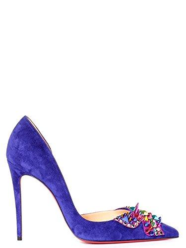 Comprar Zapato Christian Louboutin Azul Gamuza / Zapatos Altos