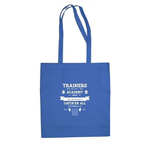 Trainers Academy - Stofftasche / Beutel, Farbe: blau (Pokemon Trainer Blauen Kostüm)