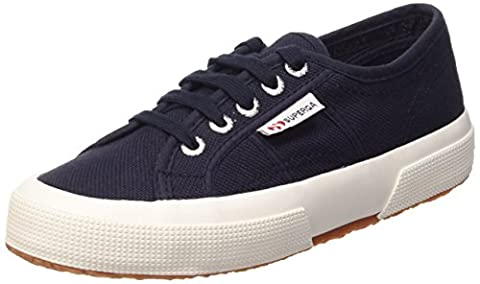 Superga 2750 Cotu Classic, Sneakers Basses Unisexe adulte - Bleu - Blue - Blau (Navy-White) - 41 EU