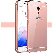 "PREVOA ® 丨 Metal Bumper Frame Funda Cover Case para Meizu M3 Mini 5,0 "" pulgadas Smartphone - Rosa"