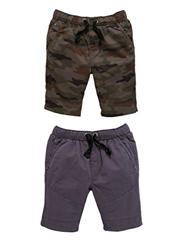 V By Very Pack Of Two Pull On Shorts in Black / Grey Size 13-14 Years