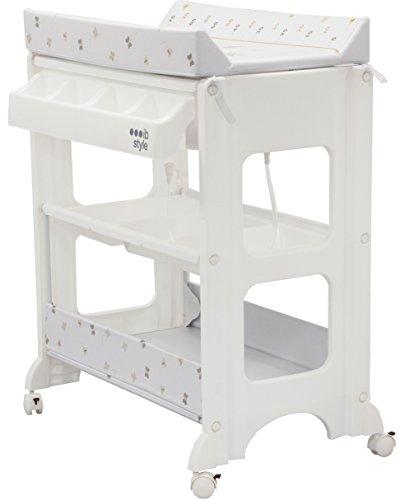 Preisvergleich Produktbild IB-Style - Wickeltisch mit Badewanne - Wickelkommode auf Rollen - Große Auswahl - MY LITTLE FARM BEIGE