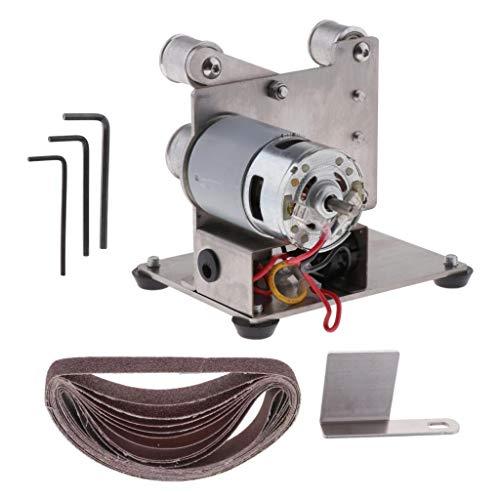Homedectime levigatrice per lucidatura a set di mini levigatrici a nastro elettrico multifunzione diy - tipo 15mm, come descritto