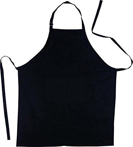 JRing Tablier de Cuisine en Coton Avec Poche Frontale (noir)