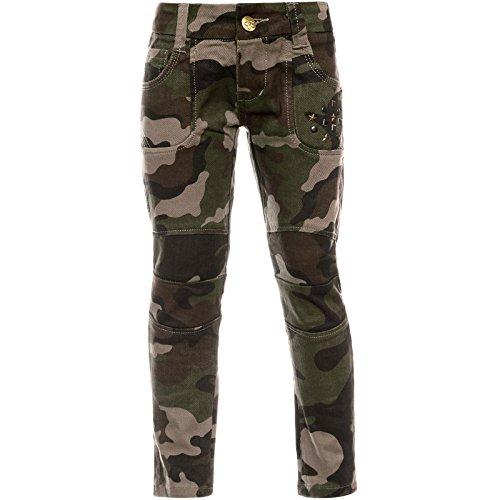 BEZLIT BEZLIT Madchen Camouflage Chino Hose Verstellbaren Bund Nieten 21879 Braun(51) 92 bis 98 cm / 4 Jahre