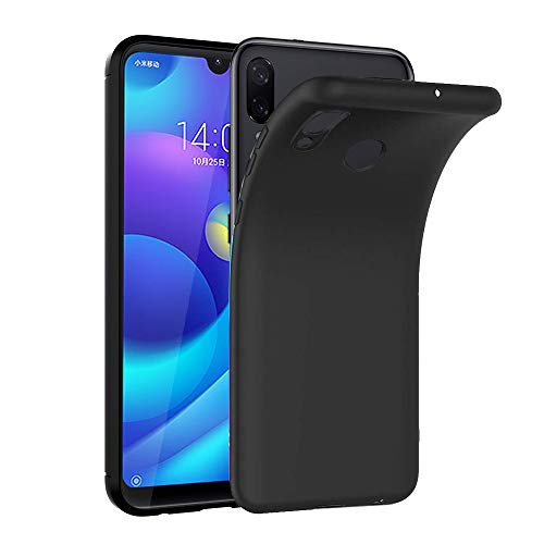 Ferilinso Cover per Xiaomi Redmi 7 PRO/Xiaomi Mi Play, Custodia in Fibra di Carbonio Slim Thin Hybrid Defender Scratch Resistant Anti Shock Cover Protettiva in Silicone (Negro)