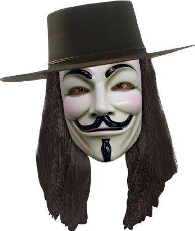 aske, Hut und Perücke zum Aktionspreis (V For Vendetta Perücke Und Hut)