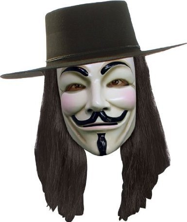 V for Vendetta Set Maske, Hut und Perücke zum Aktionspreis