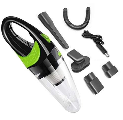 WGE Kabelloser Handstaubsauger, 120W Starker Zyklon-Sauger Tragbares Wiederaufladbares, USB-Aufladendes Auto/Hauptstaubsauger,B