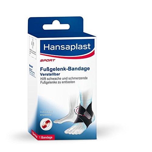 Hansaplast Fußgelenk-Bandage für schwache oder schmerzende Gelenke, Fußbandage zum Schutz der Fußgelenke, Fußgelenkstütze für Alltag, Hobby und Sport