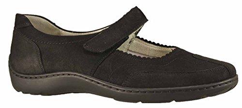 Waldläufer Henni 496301 Ama172 014, Chaussures à lacets femme Noir - Noir