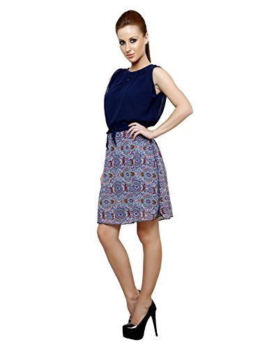 Vastrasutra-Sleeveless-Self-design-Womens-Multi-Color-Georgette-Office-Dress