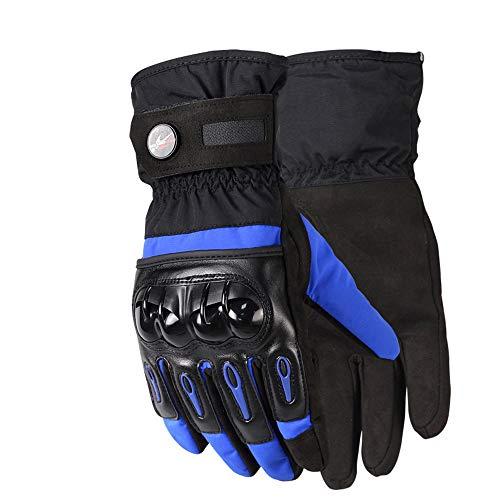 Bonnoeuvre Professionnel Gants de moto Hiver /étanche imperm/éable Gants de sports R/ésistance /Écran Tactile Gant de Ski M, Noir