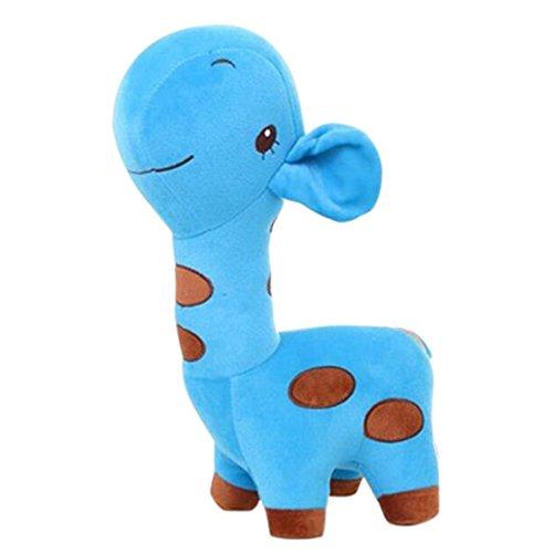 Georgie Porgy Kinder Kuschelige Giraffe Stofftier Plüschtier Soft Cute Baby Kleinkind Spielzeug (Blaue Giraffe)