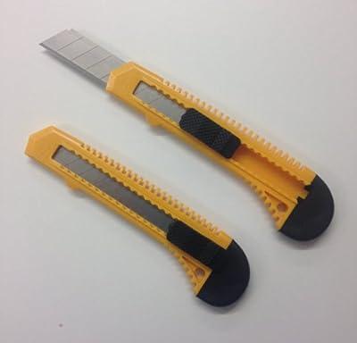 25 x Profi Teppichmesser Cuttermesser 18 mm Cutter Messer inkl. Abbrechklingen von DKB - Tools - Germany - TapetenShop