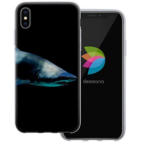 dessana Unter Wasser Welt transparente Schutzhülle Handy Case Cover Tasche für Apple iPhone XS Max Shark
