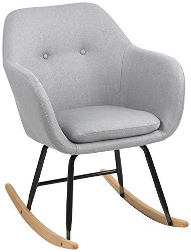 AC Design Furniture Schaukelstuhl Wendy, B: 57 x T:71 x H: 81 cm, Metall, Grau -