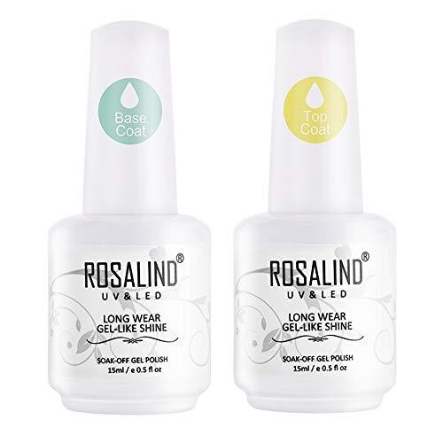 ROSALIND 2PCS capa superior capa base gel esmalte