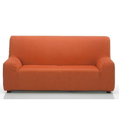 Jarrous Funda de Sofá Elástica Modelo Arucas, Color Naranja-7, Medida 3 Plazas - 180-230cm
