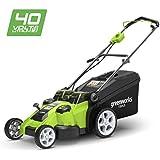 Greenworks Tools 2500207 Cortacésped Inalámbrico con Doble Cuchilla, ...