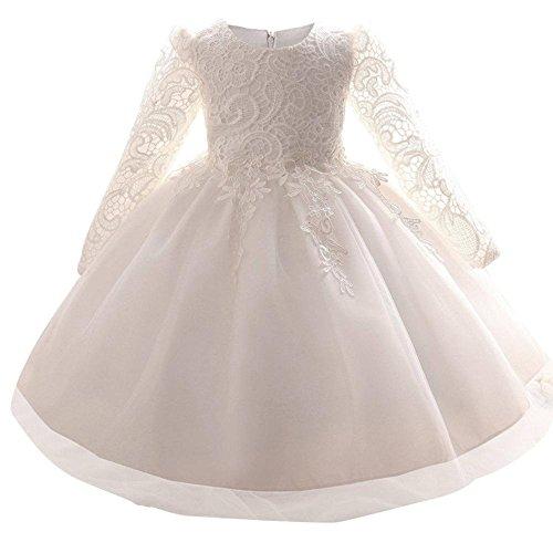 BOZEVON Baby Mädchen Kinder Kindertag Taufbekleidung Prinzessin Lange Ärmel Festkleidkleid