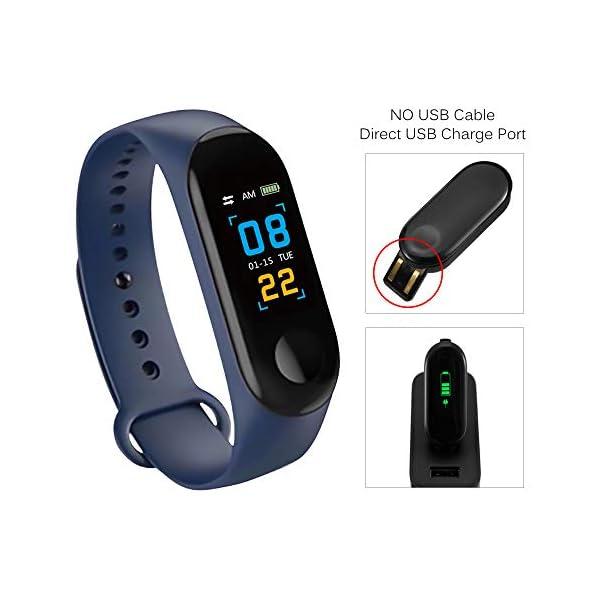 Konesky Fitness Tracker Monitor de Ritmo cardíaco Pulsera de presión Arterial Actividad Reloj Podómetro Contador de calorías Pulsera para Android iOS Smartphone 9