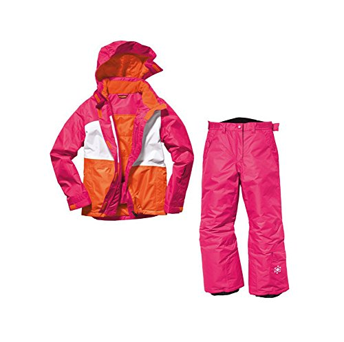 Mädchen Snowboardanzug Skianzug Größe: 146/152 Pink/Weiß/Orange Snowboardjacke & Snowboardhose Set Schneeanzug