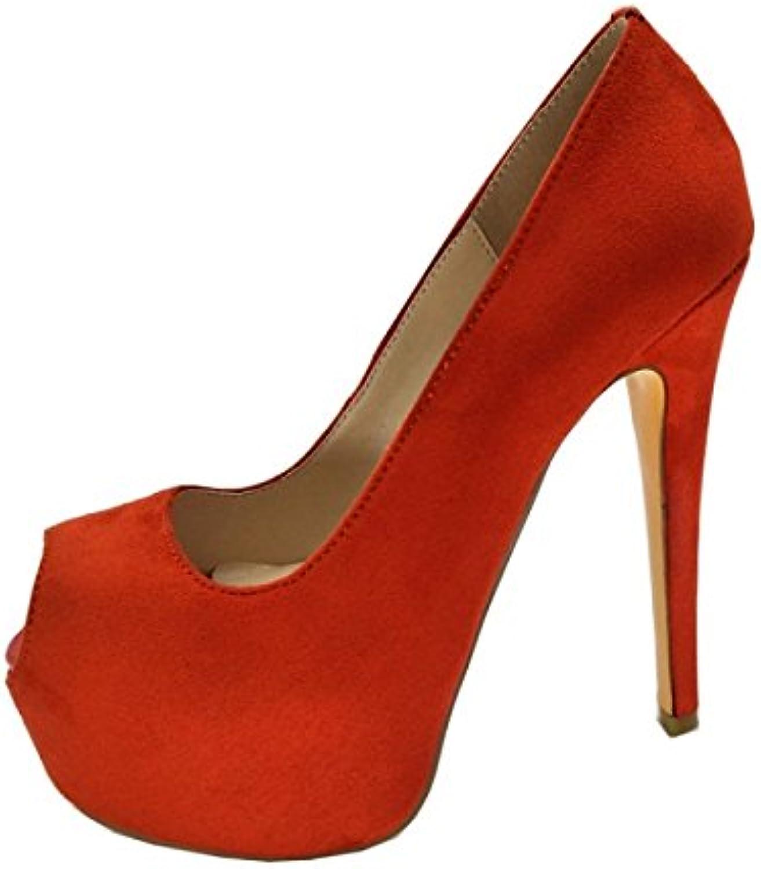 VIVIOO Prom Sandals scarpe,Elegant Fashion,14.5 Cm Cm Cm High Heels,Peep Toe Pumps,donna scarpe. Dimensione 34-45,rosso,11.5   Stili diversi    Uomini/Donna Scarpa  5c0767