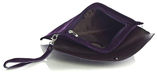 Big Handbag Shop, Borsetta da polso donna One Marrone (Dark Taupe)