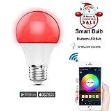 Magic Neu Smart LED Bluetooth Gegenwert 40W RGBW Lampe, 16 Mio Farben und DIY Leuchtmittel dimmbar Bulbs, Timer/Wecker, Musik & Mic Beleuchtung E27 für Android und IOS