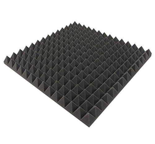 B-Ware in geprüfter Qualität nochmals bis zu 50{e9554a87fdd8e954acb7795b08fce3a33326f77415783e9d8314c2d9249afd37} reduziert!! 16 Stk. Akustikschaumstoff ca. 50x50x5cm, Anthrazit Schwarz, Pyramiden Schaumstoff Noppenschaum