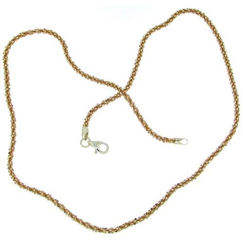 Derby Collierkette criss-cross Design rosevergoldet 2 mm stark Rolo 45.0 28397-45
