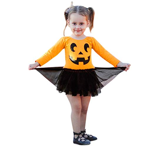 Elecenty Halloween Strampelanzug,Bekleidungssets Babybody Jumpsuit Karikatur-Druck Overall Kleider Winteroverall Strampler Kleiderset Babyartikel Kindermode Outfits Mädchenbekleidung