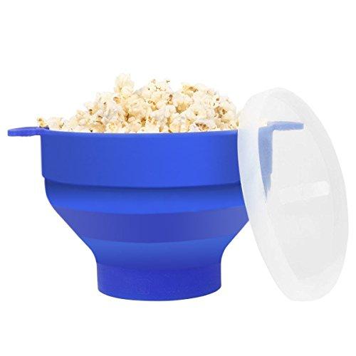 Popcorn Schüssel Mikrowelle Silikon, Popcornmaker Mini Zusammenklappbar, Mikrowellenschüssel (Süß Aber Heiße Kostüm)