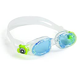Aqua Sphere - Gafas de natación Moby, color azul/lima