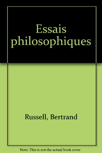 Essais philosophiques