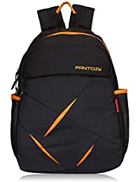 fantosy 28 Ltr Black and Orange Casual Backpack