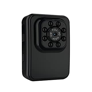 ALLCACA HD Super Mini Camera Portable 1080P WIFI Camera Small Cam Camera with Night Vision and Motion Detection Security Camera, Suitable for Home Security Surveillance, Black
