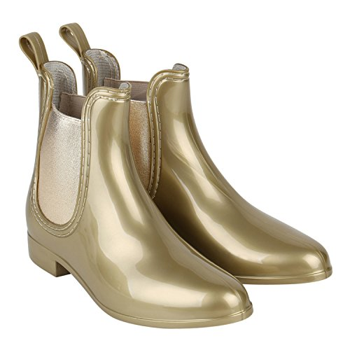 Japado - Stivali di gomma Donna Gold